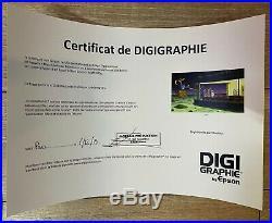MOEBIUS DIGIGRAPHIE NIGHTHAWKS 100 EX + CERTIFICAT HOMMAGE E. HOPPER Dim 6080Cm