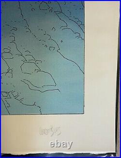 MOEBIUS SERIGRAPHIE THE CRYSTAL GATE 1995 200 EX SIGNE TBE Dim 5065Cm a vue