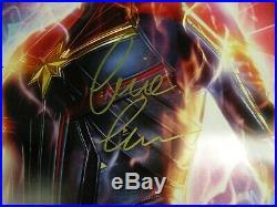 MS. CAPTAIN MARVEL Cast Signed DS Movie Poster BRIE LARSON AVENGERS Comic 1