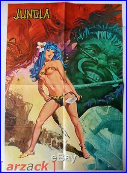 Manifesto JUNGLA colori allegato N 50 di Jungla gadget POSTER RG 1971 Tacconi
