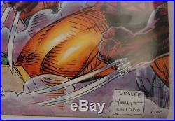 Marvel 1992 X Men Mutant Genesis Poster Signed Jim Lee, Scott Williams Claremont