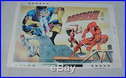 Marvel Comics Index Daredevil Cover Proof Poster Print Signed 3x Frank Miller
