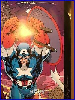 Marvel Comics Poster book 1991. Jim Lee Signed (7x) & Scott WillIams Signed (5x)