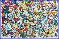 Marvel Comics Universe Giant Super Hero Vintage Poster 50x50 inch