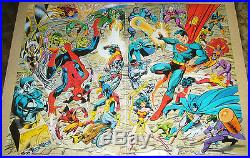 Marvel/DC connecting poster set by john byrne x-men justice league spider-man