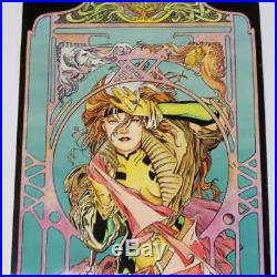 Marvel Gambit Rogue Poster Set Joe Quesada 1994 Art Nouveau Style 11 x 34