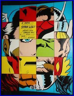 Marvel Hero Portrait Composite Large Poster Stan Lee at Carnegie Hall 1972
