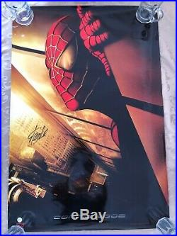 Marvel Spiderman Original Movie 27x40 DS Movie Poster Signed By Stan Lee WithCOA