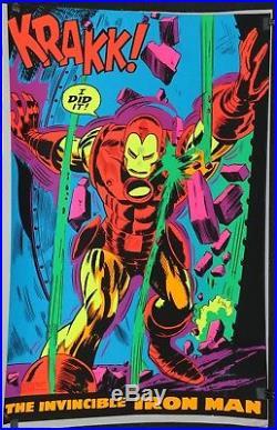 Marvel Super Heroes 1971 Third Eye Blacklight Poster #4019 Iron Man