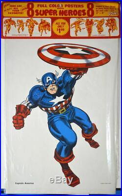 Marvel Super Heros MMMS CLUB POSTER SET RARE Personality Poster 1966 Marvelmania