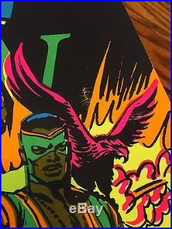 Marvel Third Eye Poster 1971 Captain America And Falcon! #4015! Great Condition