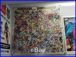 Marvel Universe 50 Vintage Poster Lithograph Giclee Stan Lee Signed Spider-man