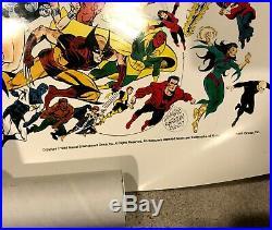 Marvel Universe poster 50 x 50 Ed Hannigan Marvel Press #44 1987