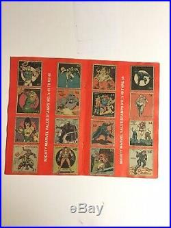 Marvel Value Stamp Book 99/100 Stamps Rare+Spider-Man Poster+Sticker Card HTF