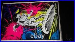 Marvel legends silver Surfer Black light poster. Original from 1996 #406. Rare