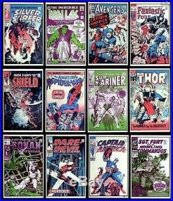 Marvelmania Foom Complete Set Of 12 Posters Rare Marvel Ff Avengers Hulk Conan
