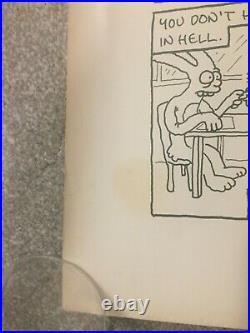 Matt Groening Signed RARE Life In Hell Poster 87