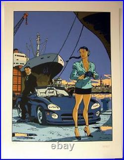 Meynet serigraphie Eternels Port d'Anvers 150 ex signe 2003