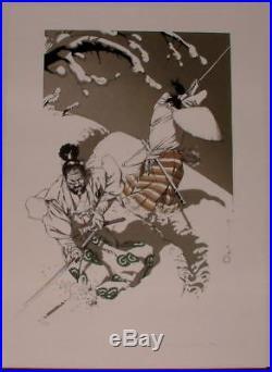 Michetz serigraphie Samourais 120 ex signe
