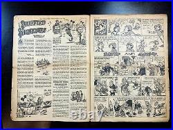 Mickey Mouse Weekly Very Early Disney (1937) 11 x15 UK Comic Book