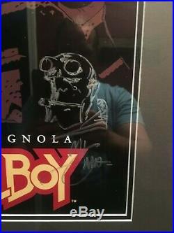 Mike Mignola Original Artwork Signed Hand-Drawn Sketch Hellboy Poster 13x22