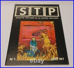Moebius dans revue STP avec poster et illus TTBE
