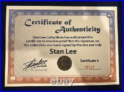 Mondo Captain America The 1st Avenger Color Print Signed by Stan Lee w COA Rare