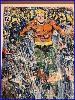 Mr. Brainwash Aquaman Signed Numbered Print Poster Comic Book Cover X/100 Art