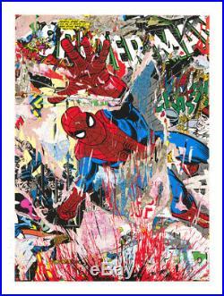 Mr Brainwash SPIDER-MAN MARVEL Print Obey INVADER Kaws WHATSON Batman AQUA DC
