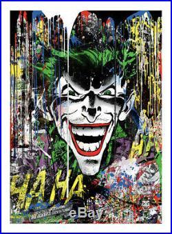 Mr. Brainwash The Joker Signed Comic Book Poster Print Screenprint Art x/79