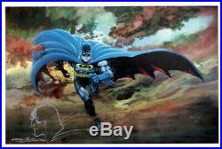 Neal Adams Fine Art Print AP Artist Proof SIGNED with Original Art Sketch Batman