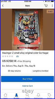 New! Mazinger Marmit (RARE)mini Metal /color Devilman +comic #1+free poster