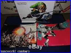 Nintendo Mario Amiibo Autographed Charles Martinet & Poster Set
