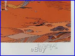Offset Moebius (Jean Giraud) Signé Jimmy Hendrix