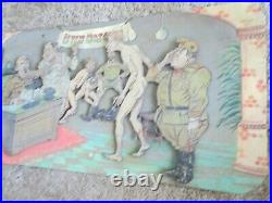 Old Strange Wwii Ww2 Nazi Germany Hungary Advertisement Poster Comic Book Sign