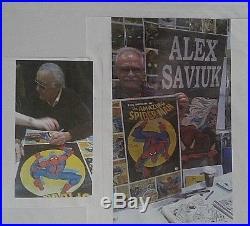 Origin Of Spider-man 1980 Coca Cola Signed Poster By Stan Lee & Artist A Saviuk