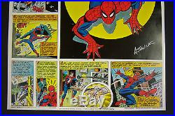 Origin of Amazing Spider-Man Coca-Cola poster signed by artist ALEX SAVIUK