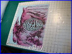 Original 1971 CREATION THE ART CONVENTION POSTER 1st year NY city SO COOL