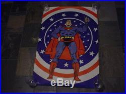 Original 1971 SUPERMAN STANDING PEACE SIGN 40x 24 POSTER