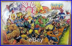 Original 1992 Marvel Press Avengers Infinity War Poster 34x22 #112 Ron Lim C5