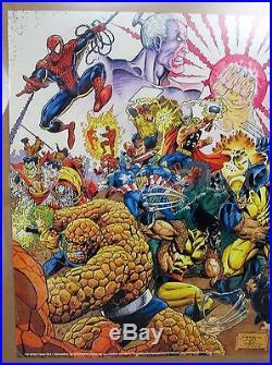 original 1992 marvel press avengers infinity war poster 34 22 112