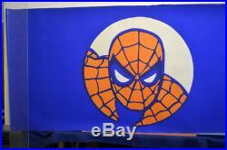 Original 7-11 RETAILER PROMO POSTER Marvel Super Hero 7-11 CUPS Rare SPIDEY CAP