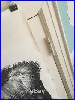 Original Frankenstein Monster 1972 Vintage Poster 24x72 Jack Davis Halloween
