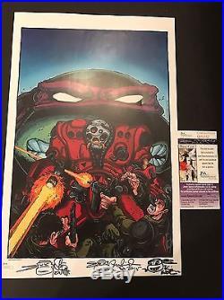 PETER LAIRD & KEVIN EASTMAN & STEVE LAVIGNE signed Poster TMNT Ninja Turtles JSA