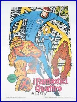 POSTER MANIFESTO FANTASTICI QUATTRO CORNO 48x68 GADGET CLUB MARVELMANIA KIRBY