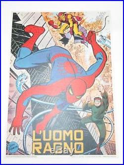 POSTER MANIFESTO L'UOMO RAGNO CORNO 49 x 68 GADGET CLUB MARVELMANIA JOHN ROMITA