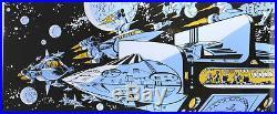 Plaque émaillée Valérian L'Empire des mille planètes, Vaisseaux dans l'espace