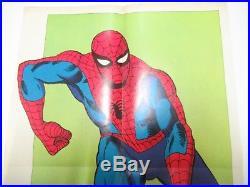 Poster Manifesto L' Uomo Ragno N. # 1 Corno 1970 First Edition Spiderman Gadget