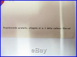 Poster Manifesto L' Uomo Ragno N. 1 Gadget Corno 1970 Rarita' Quasi Edicola