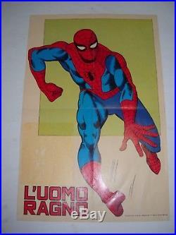 Poster Manifesto L' Uomo Ragno N. # 1 Originale Corno 1970 Gadget Rarita'